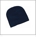 "8"" Knit Beanie Embroidery Blanks - Navy"