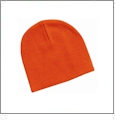 "8"" Knit Beanie Embroidery Blanks - Orange"