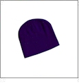 "8"" Knit Beanie Embroidery Blanks - Purple"