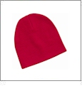 "8"" Knit Beanie Embroidery Blanks - Red"