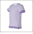Rabbit Skins Toddler Contrast Color Double Ruffle T-Shirt Embroidery Blanks - Lilac/Lavender