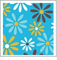 Daisy 7 - QuickStitch Embroidery Paper - One 8.5in x 11in Sheet - CLOSEOUT