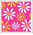Daisy 9 - QuickStitch Embroidery Paper - One 8.5in x 11in Sheet