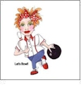 Bowled Over 1 by Loralie Designs Embroidery Designs on a Multi-Format CD-ROM 630099