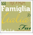 Roma Italiano- Sage - QuickStitch Embroidery Paper - One 8.5in x 11in Sheet
