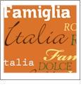Roma Italiano- Orange - QuickStitch Embroidery Paper - One 8.5in x 11in Sheet - CLOSEOUT