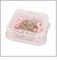 Pink Long Pearlized Pins - 100/pack