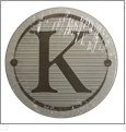 "Monogrammed Coasters - Set of 4 - Letter ""K"" CLOSEOUT"