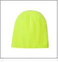 "8.5"" Knit Beanie Embroidery Blanks - Safety Lime"
