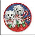 A Kittens & Puppies Christmas Embroidery Designs on CD from the Vermillion Stitchery 73200