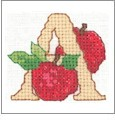 Fruit and Vegetable Alphabet Embroidery Designs on CD from the Vermillion Stitchery 72100
