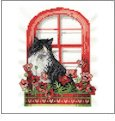 Flower Box Cats Embroidery Designs on CD from the Vermillion Stitchery 70800