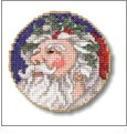 Nine Santas Embroidery Designs on CD from the Vermillion Stitchery 70100