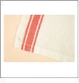 Red Vintage Striped Towel Set Embroidery Blanks