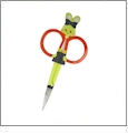 Happy Bunny Embroidery Scissors - Orange CLOSEOUT