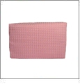 Large Cotton Waffle Cosmetic Bag Embroidery Blanks - LIGHT PINK