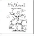 Frilly Flowers 2 by Loralie Designs Embroidery Designs on CD 630109
