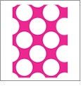 Jumbo Polka Dots 1 - QuickStitch Embroidery Paper - One 8.5in x 11in Sheet- CLOSEOUT
