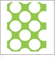 Jumbo Polka Dots 2 - QuickStitch Embroidery Paper - One 8.5in x 11in Sheet- CLOSEOUT