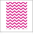 Chevron 1  - HOT PINK QuickStitch Embroidery Paper - One 8.5in x 11in Sheet