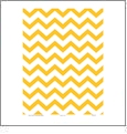 Chevron GOLDENROD  - QuickStitch Embroidery Paper - One 8.5in x 11in Sheet