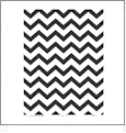 Chevron 9  - QuickStitch Embroidery Paper - One 8.5in x 11in Sheet - CLOSEOUT