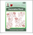 Decorative Floral Embroidery Designs by John Deer's Adorable Ideas - Multi-Format CD-ROM AIDFL