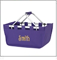 Foldable Market Tote Embroidery Blanks - PURPLE