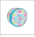 Jewelry Case Embroidery Blanks - Peace Signs CLOSEOUT