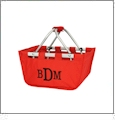 Mini Foldable Market Tote Embroidery Blanks - RED