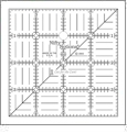 4� Square Ruler Cut For The Cure CLOSEOUT