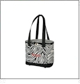 Cooler Tote Embroidery Blanks - ZEBRA