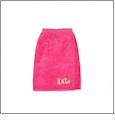 Kids Terry Towel Wrap Embroidery Blanks - HOT PINK