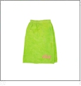 Kids Terry Towel Wrap Embroidery Blanks - Lime Green CLOSEOUT