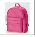 "Eco-Friendly 16"" Backpack Embroidery Blanks - HOT PINK"