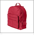 "Eco-Friendly 16"" Backpack Embroidery Blanks - RED"