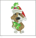 Doggie Holiday by Loralie Designs Embroidery Designs on a Multi-Format CD-ROM 630114