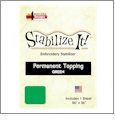 Stabilize It 26in x 36in Sheet Permanent Embroidery Topping - GREEN