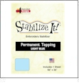 Stabilize It 26in x 36in Sheet Permanent Embroidery Topping - LIGHT BLUE