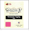 Stabilize It 26in x 36in Sheet Permanent Embroidery Topping - PINK