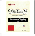 Stabilize It 26in x 36in Sheet Permanent Embroidery Topping - BURGANDY