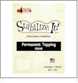Stabilize It 26in x 36in Sheet Permanent Embroidery Topping - CLEAR