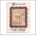 Love Letters Applique Embroidery Designs by Lunch Box Quilts on a USB STICK