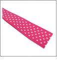 "Swiss Dot Shocking Pink Grosgrain Ribbon - 7/8"" x 1 Yard"