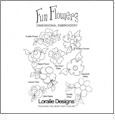 Fun Flowers Dimensional Embroidery by Loralie Designs Embroidery Designs on CD 630115