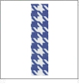"Bold Houndstooth Royal Grosgrain Ribbon - 7/8"" x 1 Yard"