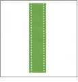 """Stitches in Lime Ribbon - 7/8"""" x 1 Yard"""