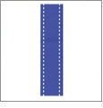 "Stitches in Electric Blue Ribbon - 7/8"" x 1 Yard"