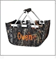 Mini Foldable Market Tote Embroidery Blanks - WOODS CAMO
