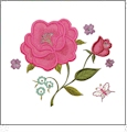 Coming Up Roses Embroidery Designs CD for GO! by Michelle Griffith